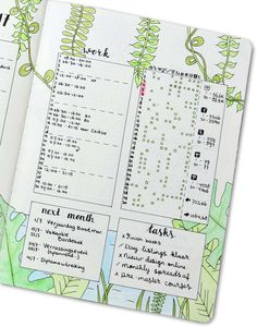 Monthly Spread van Planning Routine
