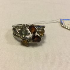 New NVC RHINESTONE Silver plate ring Size 8..beautiful Nvc Jewelry Rings