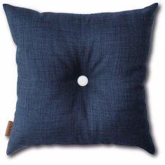Button Cushion - Dark Blue
