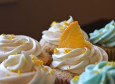 Light and fluffily delectable Homemade Blue Moon cupcakes. Make these cupcakes for your next tailgate party or birthday bash! These cupcakes will be a hit!