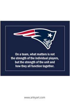 Patriots football logo wall poster. Team Quotes, Coach Quotes, Patriots Fans, Patriots Football, Bill Belichick, Football Wall, Nfl Pro, Inspirational Wall Art, Inspiration Wall