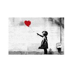 Love this. :: Girl & Balloon Canvas Print