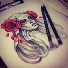 .@angelademure | In progress. dia de la muerta