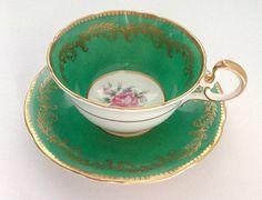Aynsley Tea Cup Gold Decoration Bone China. by JoyJoeTreasures, $48.90