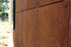 corten (weathered steel) siding
