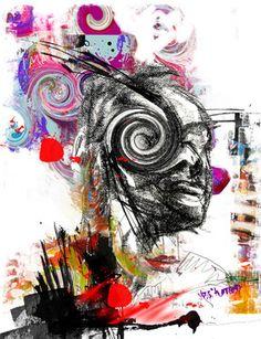 """Saatchi Online Artist yossi kotler; Mixed Media, """"just be yourself"""" #art"""