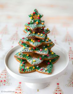 3d Christmas Tree, Christmas Tree Cookies, Gingerbread Cookies, Christmas Cookies, Christmas Holidays, Christmas Crafts, Christmas Decorations, Holiday Drinks, Holiday Recipes