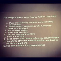Ten Things I Wish I Knew Sooner Rather Than Later — timeless life-wisdom from the brilliant Debbie Millman, who is wise.