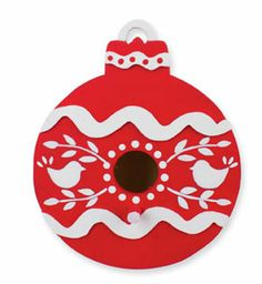 Let this red birdhouse Christmas ornament, in simple, seasonal Americana Acrylic colors, add a touch of the outdoors to your holiday tree. 12 Days Of Christmas, Christmas Crafts For Kids, Christmas Projects, Holiday Crafts, Christmas Decorations, Christmas Ideas, Christmas Ornaments, Easy Ornaments, Ornaments Design