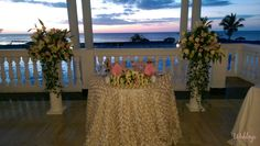 This location, the Blue Lagoon Restaurant, is perfect for a dreamy reception with gorgeous views to the Caribbean #WeddingReception #Jamaica