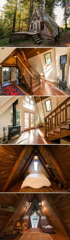 A cozy A-frame cabin among the redwoods of Northern California