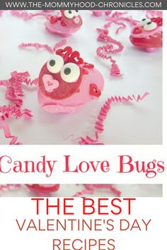 The Best Valentine's Day Recipes! Easy Valentines Day Recipes/Candy Love Bugs #CandyLoveBugsRecipe #BestValentinesDayRecipes #20AwesomeValentinesDayRecipes #EasyValentinesDayRecipes #BestofValentinesDayRecipes #DeliciousValentinesDayRecipes Valentines Food, Valentine Treats, Holiday Treats, Holiday Recipes, Bug Candy, Celebration Day, Love Holidays, Food Festival, Yummy Food