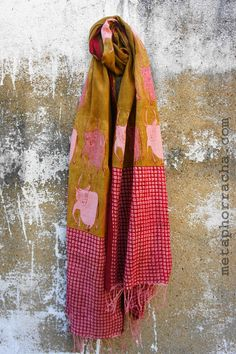 Handblock printed khadi stole | Metaphor