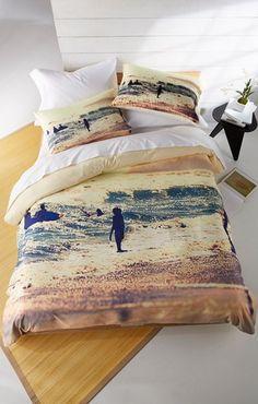Sunset Surfer Bedding #bedding