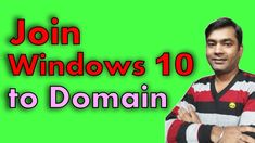 Join Windows 10 to domain Active Directory, Windows 10, Join, Mens Tops