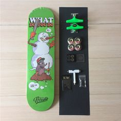 Complete Skateboards Set Private Deck Ruckus Trucks Element Wheels ABEC-3 Bearings Plus Hardware Set Riser Pad & Installing Tool