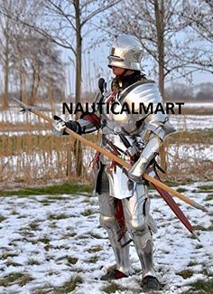 NauticalMart Larp armour Medieval Gothic Full suit of Armor Wearable Renaissance Medieval Gothic, Medieval Knight, Medieval Armor, Medieval Fantasy, Renaissance, Medieval Costume, Armadura Medieval, Knight In Shining Armor, Knight Armor