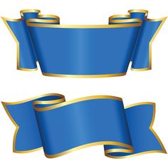 2 Gold Trimmed Blue Ribbon Banners Set - http://www.welovesolo.com/2-gold-trimmed-blue-ribbon-banners-set/
