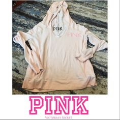 Victoria's Secret PINK Pale Pink/Orange Hoodie Victoria's Secret PINK Pale Pink/Orange Hoodie. Sunset color printing on front and back. Light weight. Front pockets. 60% cotton, 40% poly. Gently worn. Great condition. Feel free to make an offer. Victoria's Secret Tops Sweatshirts & Hoodies