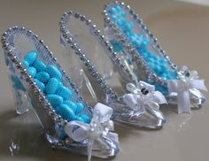Bride Tiffany  Favor Slippers, Cinderella Wedding Shoe Favors, Cinderella slipper Favors  (12 pcs)