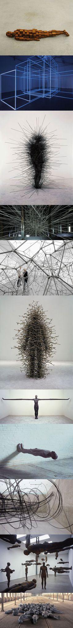 Gros coup de coeur pour les travaux du designer/sculpteur/artiste très prolifique Anthony Gormley, des sculptures et installations de toute beauté.