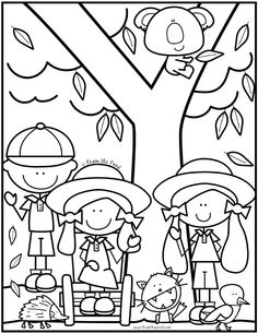 Coloring Club Library — From the Pond Easy Coloring Pages, Coloring Book Art, Animal Coloring Pages, Coloring Sheets, Free Coloring, I Love School, School Kids, Color Club, Valentines For Kids