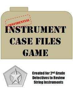 Elementary Music Methods: Real Life Edition: Instrument Case Files Review Game