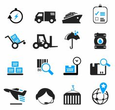 ICON / Free vector Vector icon Logistics and Shipping Icons                                                                                                                                                      More