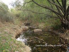 El arroyo del Valle Hermoso empieza a correr de nuevo es el otoño.