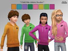 Child Athletic Hoodies by ArtGeekAJ at TSR via Sims 4 Updates
