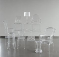 barstools, tables, chairs, and lamps!