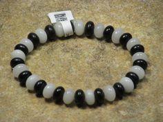 Black Jasper Snow Quartz Stretch Bracelet Black White Beaded Bracelet (RCB0) #Unbranded #Beaded