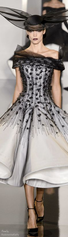 Not sure I love the hat, but the dress is fabulous!  Ralph & Russo Couture F/W 2014-15