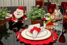 Inspiração: Mesa de Natal de crochê