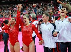 Joy. Hard work pays off. The U.S. women's golden night - Gymnastics Slideshows | NBC Olympics