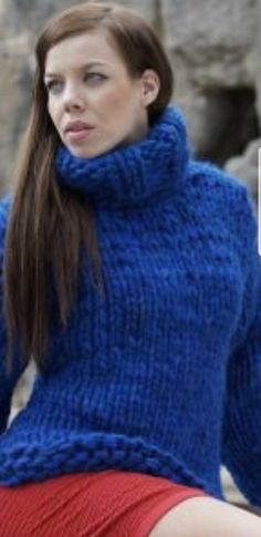 Chunky Knits, Red T, Women's Sweaters, Mohair Sweater, Guilty Pleasure, Sweater Outfits, Knitwear, Turtle Neck, Knitting