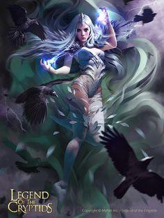 Artist: Svetlana Tigai aka tsvetka - Title: eulalia adv - Card: Wind Goddess Eulalia (Stormbringer)