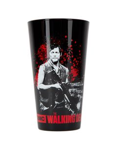 The Walking Dead Daryl Dixon Bloody Pint at Spirit Halloween - If anyone knows the value of getting a little crazy, even during a zombie attack, it's Daryl Dixon. With the officially licensed The Walking Dead Daryl Dixon Bloody Pint you can embody this bad boy with a good heart and celebrate the best holiday and show around. This black heavy duty glass features Daryl Dixon graphic and blood splatter design. Get yours for Halloween for $7.99