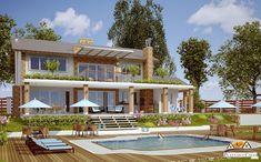 Planta de casa Jurerê com 4 quartos sendo 1 suite. Projeto Pronto para quem quer construir e busca o prazer de viver numa moradia no campo ou praia, veja+