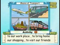 Learn - Means Of Transport - Kids Animation Education Series