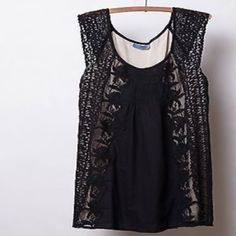 I just discovered this while shopping on Poshmark: Anthropologie Black Lace Embroidered Tunic. Check it out!  Size: M, listed by mgold21