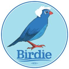Campaign made this sticker after supporters flooded the internet with #BirdieSanders art. The connection between Bernie's campaign and supporters is real.