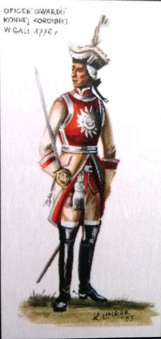 Oficer regimentu gwardii konnej koronnej. mal.K.Linder.