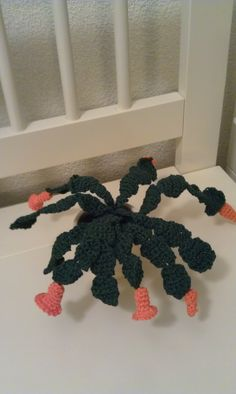 Crochet Christmas cactus...for Stephen next year.