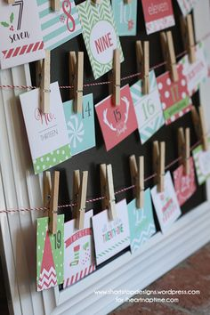 Christmas Advent Calendar - featuring free printables and the ability to change your calendar to best fit your schedule! Get the instructions and adorable printables at iheartnaptime.com