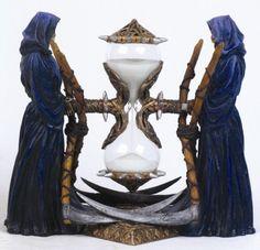 Sablier Magique - Sands of Time Hourglass Sand Timer, Dragon Table, Grim Reaper Art, Goth Home Decor, Sand Timers, Fantasy Castle, Steampunk Accessories, Poster Prints, Art Prints