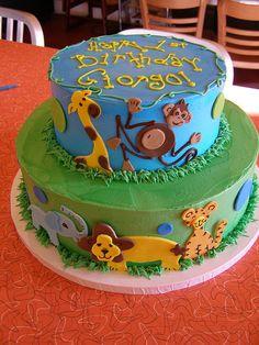 zoo animal cake by denonmoore, via Flickr