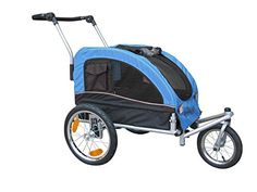 Booyah Medium Dog Stroller  Pet Bike Trailer with Suspension  Blue * Learn more by visiting the image link.