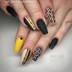 Trendy Nail Art, Stylish Nails, Dope Nails, Swag Nails, Leopard Print Nails, Nail Manicure, Gel Nail, Uv Gel, Acrylic Nail Designs