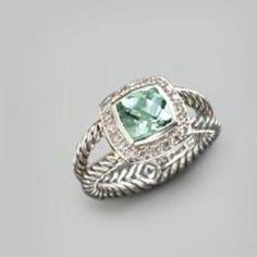 David Yurman Prasiolite and Diamond Ring Jewelry Box, Jewelery, Jewelry Accessories, Looks Style, My Style, Preppy Girl, Girly Girl, Prasiolite, Jitter Glitter